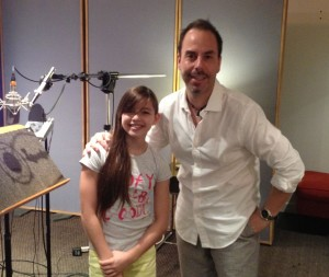 Jed Becker with Fatima Ptacek, voice of Dora the Explorer and recent star in the Oscar winning live-action short, Curfew